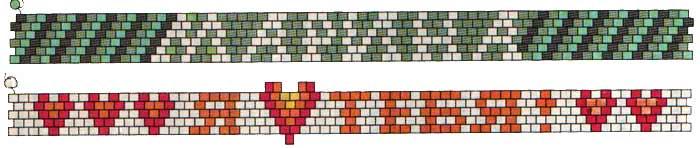 Схемы с браслетами из бисера с именами
