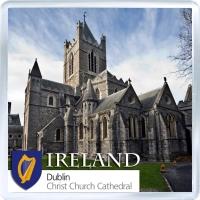 Сувенирный магнит на холодильник: Ирландия. Собор Христа в Дублине